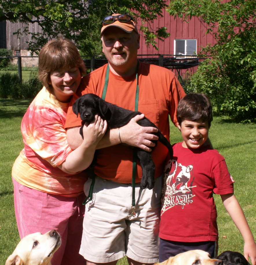 'KC' and his new family.