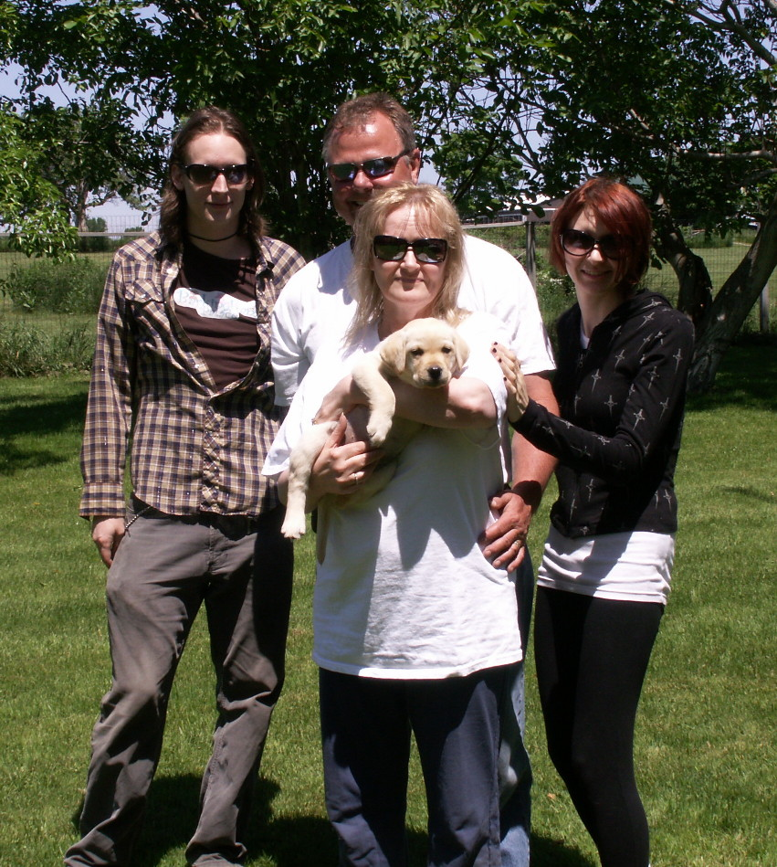 'Calypso' and her new family.