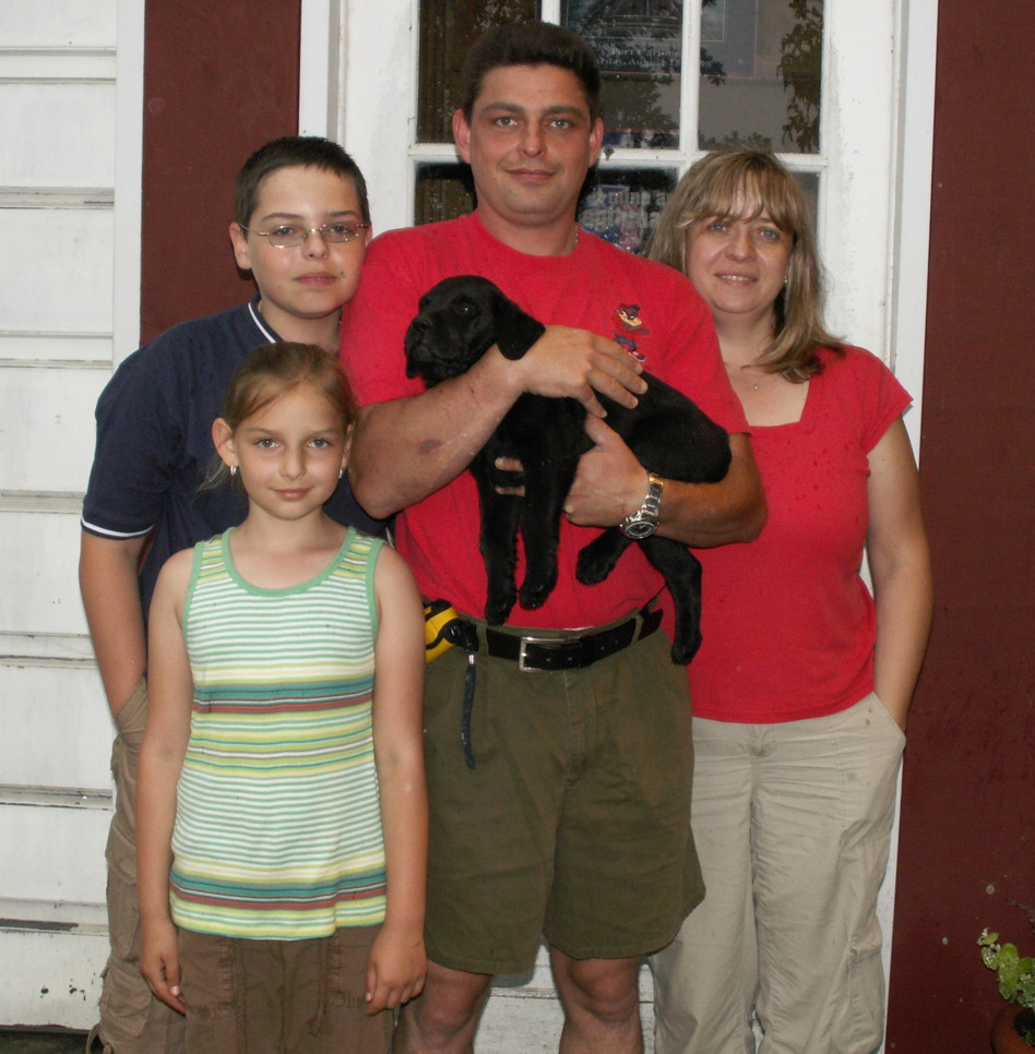 'Rex' and his new family.
