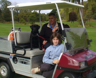 'Bindi' at 6 months enjoying life at the golf course.